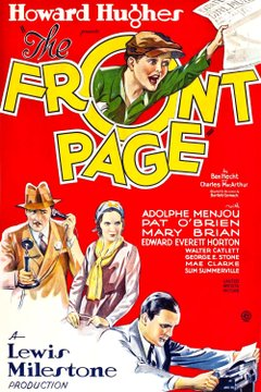 The Front Page movie poster